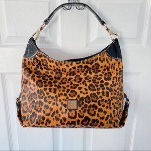 Dooney & Bourke leopard print satchel handbag